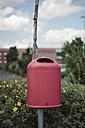 Red waste bin - DWF000177
