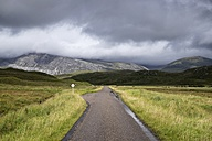 UK, Scotland, Achfary, Single Track Road in Highlands - ELF001315