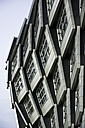 Netherlands, Flevoland, Almere, part of facade of modern apartment building - HAW000468