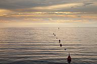 Slovenia, Istria, Slovene Littoral, Izola, Adriatic coast in the evening - WIF001103