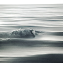 France, Atlantic Ocean, surfer, blurred - DWI000227