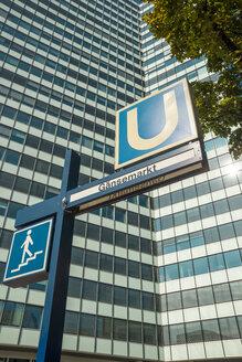 Germany, Hamburg, Underground sign Gaensemarkt at Caffamacherreihe - CSTF000418