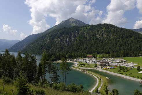 Austria, Tyrol, Achensee at Scholastika with Seekarspitze - LBF000962