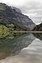 Switzerland, Canton of Glarus, Kloen Valley, Lake Kloentalersee - HLF000741