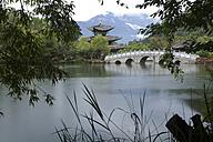 China, pagoda and footbridge at Black Dragon Pool - DSGF000210