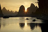 China, Guangxi, boats to transport tourists on Li river near Guilin - DSGF000216