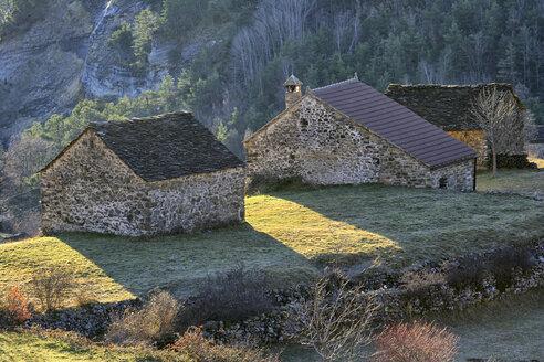 Spain, Province of Huesca, mountain village Fragen - DSGF000411