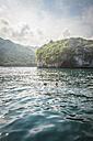 Mexico, Banderas Bay, people swimming at Los Arcos National Marine Park - ABAF001496