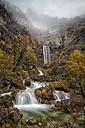 Spain, Albacete, Sierra de Riopar, Waterfalls at the source of Mundo river - DSGF000644