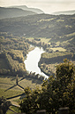 France, Savoy, Jongieux, Rhone Valley and Rhone river in late summer - SBDF001314