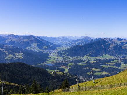 Austria, Tyrol, Kitzbuehel Alps, Kitzbuehel, View to Kitzbuehler Horn - AMF002905