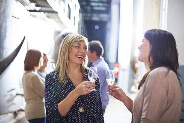 Wine tasting on shop floor - ZEF001463