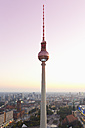 Germany, Berlin, Berlin TV Tower and cityscape in the evening light - MSF004311
