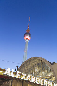 Germany, Berlin, Berlin TV Tower and railway station Alexanderplatz - MSF004314