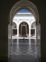 Morocco, Marrakesh-Tensift-El Haouz, Marrakesh, Bahia Palace, View to courtyard - AM002918