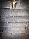Woman in boots on stairs - LVF002026