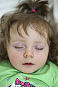 Portrait of sleeping baby girl - SHKF000009