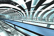 Futuristic passage of railway station, 3D Rendering - SPCF000035