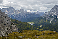 Italy, Veneto, Dolomites, Mountain scenery at the Tre Cime di Lavaredo area - RJF000321
