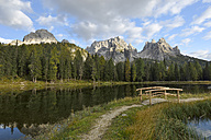 Italy, Veneto, Dolomites, Mountain scenery at the Tre Cime di Lavaredo area - RJF000312