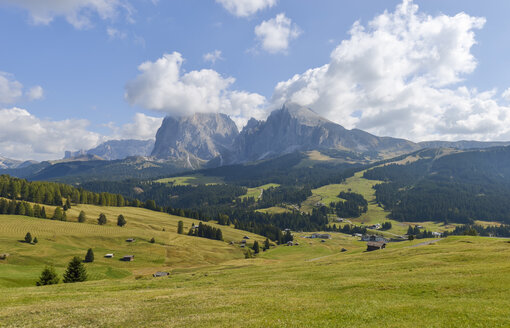 Italy, South Tyrol, Dolomites, Seiser Alm and Langkofel group - RJF000325