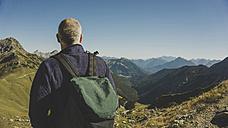 Austria, Tyrol, Tannheimer Tal, mature man hiking - UUF002306