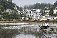 United Kingdom, England, Cornwall, Looe, Fishing harbour, Fishing boat in backwater - FR000021