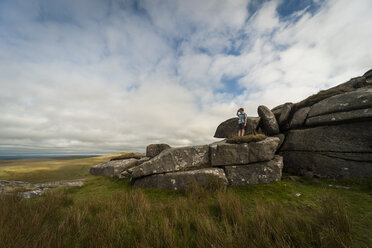 United Kingdom, England, Cornwall, Bodmin Moor, Rock formation Rough Tor - PAF001027