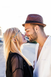 Young couple in love rubbing noses - DAWF000250