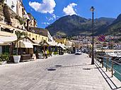 Italy, Sicily, Province of Trapani, Fishing village Castellammare del Golfo, Promenade and restaurants - AMF003044