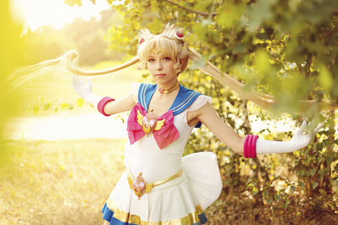 Woman wearing costume of Pretty Guardian Sailor Moon - AFF000092