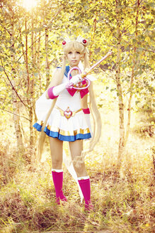 Woman wearing costume of Pretty Guardian Sailor Moon - AFF000095