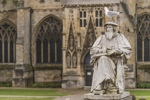 United Kingdom, England, Devon, Exeter, Exeter Cathedral, Richard Hooker Monument - FRF000028