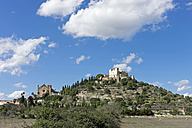 Spain, Balearic Islands, Mallorca, Arta, Cathedral Sant Salvador left and Fortress Almudaina d'Arta - HLF000746