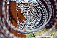Germany, Dortmund, former steel mill Phoenix West, razor barbed wire - HOHF001082