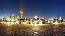 Germany, Hesse, Frankfurt, Skyline at night - PUF000144