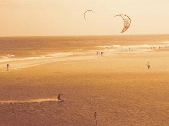 fuerteventura, spain, sea, kite surf, sunset, silhouette, ocean - DSCF000153