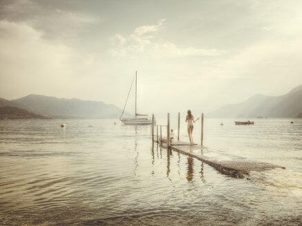 maccagno, italy, lago maggiore, lake, people, swimming, summer - DSC000158