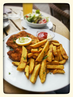 Wiener Schnitzel with French fries - CSF023159