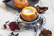 Oven baked mini-pumpkin filled with spiced hot coconut cream - SBDF001365