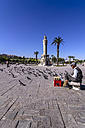 Turkey, Izmir, Aegean Region, Konak Square, Clock Tower, Izmir Saat Kulesi, Sidewalk sale - THA000848
