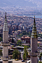 Turkey, Izmir, Aegean Region, Cityscape, Minarets in the foreground - THAF000825
