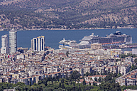 Turkey, Izmir, Aegean Region, Cruise liners in the harbour - THAF000830