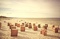 Germany, Mecklenburg-Vorpommern, Binz, beach with beach chairs - PUF000200