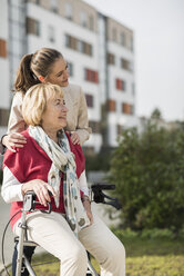 Granddaughter and her grandmother spending time together - UUF002562