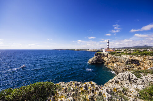 Spain, Mallorca, Porto Colom, Lighthouse - THAF000865