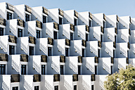 Spain, Baleares, Mallorca, apartment building with rows of balconies - MS004367