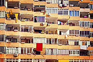 Spain, Baleares, Mallorca, apartment building with recessed balconies - MS004370