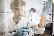 Scientist working in laboratory, test tube and pipette - FKF000874