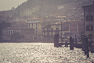 Italy, Lombardy, Brecia, Limone sul Garda in evening light - LVF002184